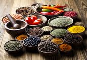Spices in Bowls wall mural thumbnail