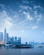Shanghai at Dawn wallpaper mural thumbnail