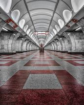 Prague Metro mural wallpaper thumbnail