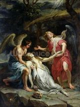Ecstasy of Mary Magdalene, c.1619-20 (oil on canvas) wall mural thumbnail