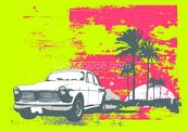 Retro Car wall mural thumbnail