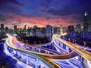 Shanghai Highway Sunset wall mural thumbnail