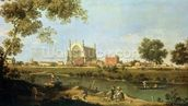 Eton College, c.1754 (oil on canvas) wallpaper mural thumbnail
