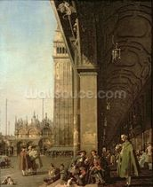 Venice: Piazza di San Marco and the Colonnade of the Procuratie Nuove, c.1756 (oil on canvas) wallpaper mural thumbnail