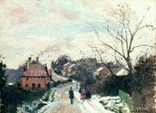 Fox hill, Upper Norwood, 1870 (oil on canvas) wallpaper mural thumbnail