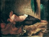 Odalisque (oil on canvas) wall mural thumbnail