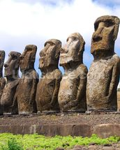 Easter Island mural wallpaper thumbnail