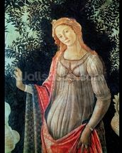 Primavera, detail of Venus, c.1478 (tempera on panel) wallpaper mural thumbnail