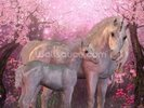 Unicorn Mare and Foal wall mural thumbnail