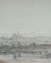 Windsor Castle from the River, 19th century (drawing) wallpaper mural thumbnail