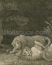 Tygers at Play, engraved by the artist, pub. 1789 (etching) mural wallpaper thumbnail