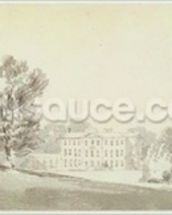 A three storied Georgian house in a park, c.1795 (wash over graphite on paper) wall mural thumbnail