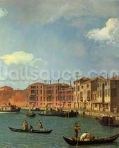 View of the Canal of Santa Chiara, Venice (oil on canvas) mural wallpaper thumbnail