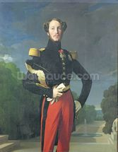 Ferdinand-Philippe (1810-42) Duke of Orleans in the Park at Saint-Cloud, 1843 (oil on canvas) wallpaper mural thumbnail