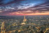 Purple Skies Over the Eiffel Tower wall mural thumbnail