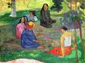 Les Parau Parau (The Gossipers), or Conversation, 1891 (oil on canvas) wall mural thumbnail