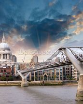Millennium Bridge, London wallpaper mural thumbnail