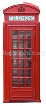 Old Red Phonebox wall mural thumbnail