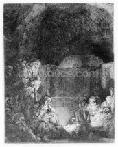 The Entombment, c.1654 (etching) wall mural thumbnail