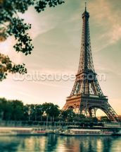 Tour Eiffel Paris France mural wallpaper thumbnail