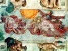 Sistine Chapel Ceiling: Creation of the Sun and Moon, 1508-12 (fresco) wall mural thumbnail