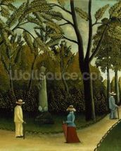 The Monument to Chopin in the Luxembourg Gardens, 1909 (oil on canvas) wall mural thumbnail