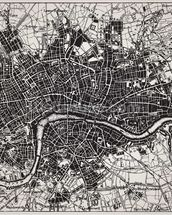Historical Map of London mural wallpaper thumbnail