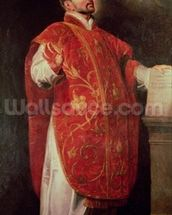 St. Ignatius of Loyola (1491-1556) Founder of the Jesuits (oil on canvas) wallpaper mural thumbnail