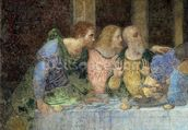 The Last Supper, 1495-97 (fresco) (post restoration) wallpaper mural thumbnail