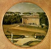 Casino of Raphael in the gardens of the Villa Borghese, Rome, 1807 (oil on canvas) wall mural thumbnail