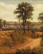 A Lane near Dedham, c.1802 (oil on canvas) wall mural thumbnail