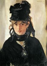 Berthe Morisot with a Bouquet of Violets, 1872 (oil on canvas) wall mural thumbnail