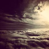 Flying Above The Clouds wallpaper mural thumbnail