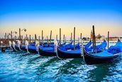 Gondolas at Sunset mural wallpaper thumbnail