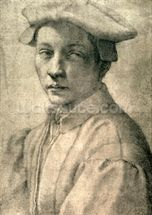 Portrait of Andrea Quaratesi, c.1532 (black chalk on paper) wallpaper mural thumbnail