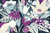 Vintage Bouquet Plum wallpaper mural thumbnail