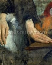 Study of Hands, 1859-60 (oil on canvas) wallpaper mural thumbnail
