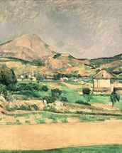 Montagne Sainte-Victoire, c.1882-85 (oil on canvas) mural wallpaper thumbnail