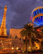 Las Vegas Strip by Night mural wallpaper thumbnail