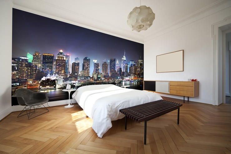 New_York_wallpaper_in_bedroom
