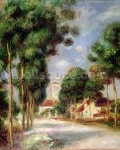 The Road to Essoyes, 1901 (oil on canvas) wall mural thumbnail