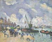 Quai de Bercy, Paris, 1873-75 (oil on canvas) wall mural thumbnail