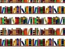 Bookshelf Illustration wall mural thumbnail
