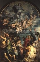 The Assumption of the Virgin Altarpiece, 1611/14 (panel) wallpaper mural thumbnail