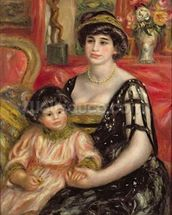 Madame Josse Bernheim-Jeune and her Son Henry, 1910 (oil on canvas) wallpaper mural thumbnail