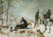 The Death of the Deer, 1867 (oil on canvas) wall mural thumbnail