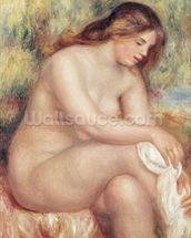 Bather Drying Herself, c.1910 (oil on canvas) wall mural thumbnail