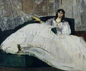 Portrait of Jeanne Duval, 1862 (oil on canvas) wall mural thumbnail