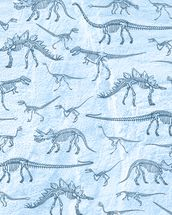 Dino Walking Skeletons wallpaper mural thumbnail