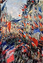 The Rue Saint-Denis, Celebration of June 30, 1878 (oil on canvas) mural wallpaper thumbnail
